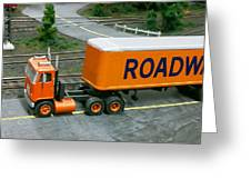 Roadway Truck Greeting Card