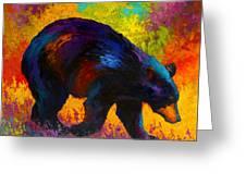 Roaming - Black Bear Greeting Card