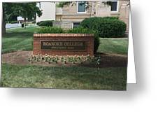 Roanoke College Sign Greeting Card