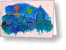 Roanoke In Blue Greeting Card