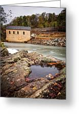 Roanoke River Niagra Rd Dam Greeting Card