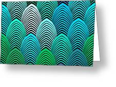 Roaring 20's Turquoise Greeting Card