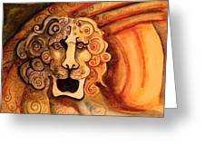 Roaring Lion  Greeting Card