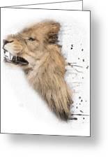 Roaring Lion No 04 Greeting Card