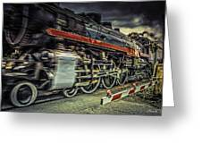 Roaring Past Greeting Card