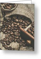 Roasted Coffee Beans In Close-up  Greeting Card