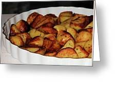 Roasted Potatoes Greeting Card