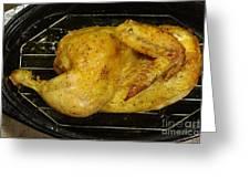 Roasting Half Chicken, 4 Of 4 Greeting Card