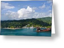Roatan Shipwreck Greeting Card