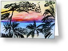 Roatan Sunset Greeting Card