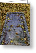 Robert Frosts Grave Greeting Card
