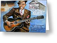 Robert Johnson Mississippi Delta Blues Greeting Card