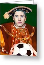Robert Lewandowski As King Of Soccer Greeting Card