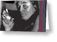 Robert Mitchum As Phillip Marlowe Neo Film Noir  The Big Sleep  1978. Greeting Card