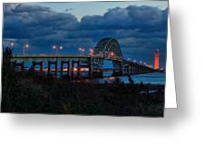 Robert Moses Bridge At Dusk Greeting Card