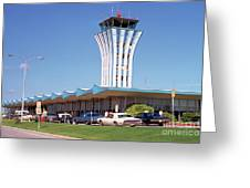 Robert Mueller Municipal Airport And Control Tower, Austin, Texas Greeting Card