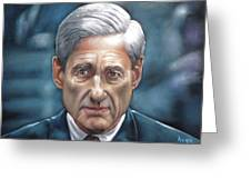 Robert Mueller Portrait , Head Of The Special Counsel Investigation Greeting Card