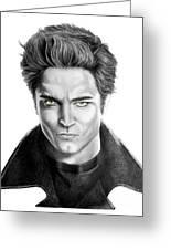 Robert Pattinson - Twilight's Edward Greeting Card