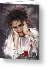Robert Smith - The Cure Greeting Card