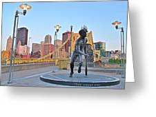 Roberto Clemente Statue 2017 Greeting Card