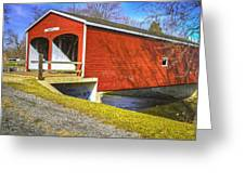 Roberts Covered Bridge Greeting Card