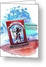 Robin Hood In Robin Hoods Bay Greeting Card