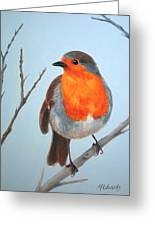 Robin In The Tree Greeting Card