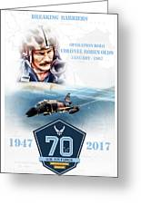 Robin Olds Breaking Barriers Greeting Card