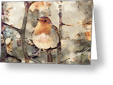 Robin Song Of Spring Greeting Card