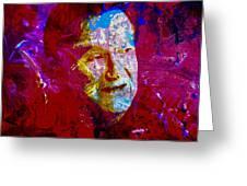 Robin Williams Paint Splatter Greeting Card