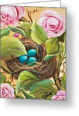 Robin's Nest Greeting Card