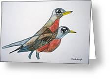 Robins Partner Greeting Card
