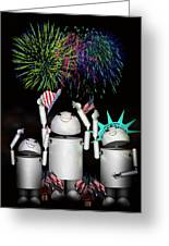 Robo-x9 And Family Celebrate Freedom Greeting Card