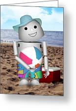 Robo-x9 At The Beach Greeting Card