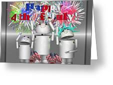 Robo-x9 Celebrates Freedom Greeting Card
