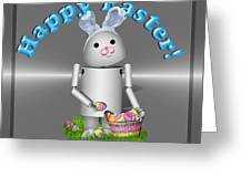 Robo-x9 The Easter Bunny Greeting Card