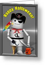 Robo-x9 Trick Or Treat Time Greeting Card