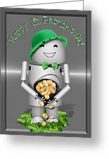 Robo-x9 With A Pot Of Gold Greeting Card