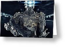 Robot Assassin Greeting Card