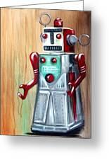 Robot Man Greeting Card