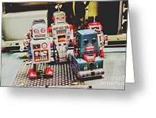 Robots Of Retro Cool Greeting Card