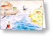 Robt E Lee Inn Jersey Shore Greeting Card