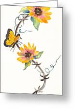 Robyn's Sunflowers Greeting Card