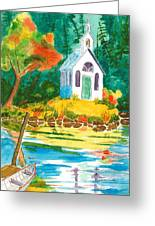 Roche Harbor Chapel Greeting Card