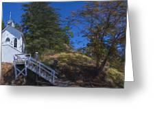 Roche Harbor Chapel In San Juan Island Greeting Card