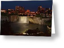 Rochester Falls At Dusk Greeting Card