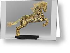 Rocinante Bronze Sculpture Greeting Card