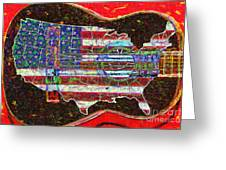 Rock And Roll America 20130123 Red Greeting Card