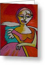 Rock And Roll Angel Greeting Card