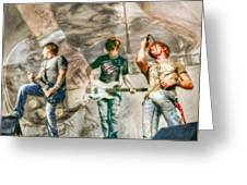 Rock And Roll Band Version 2 Greeting Card by Randy Steele